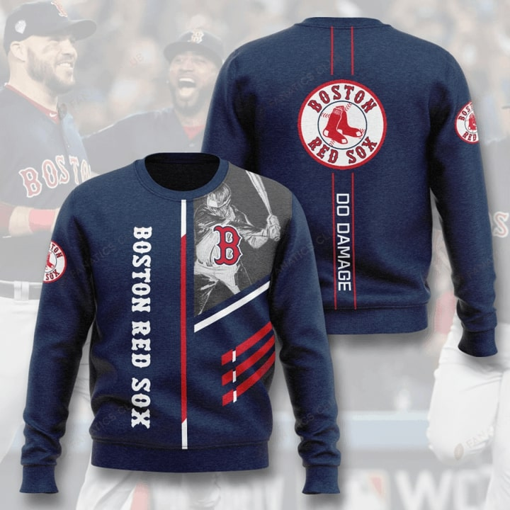 boston red sox do damage full printing ugly sweater 3