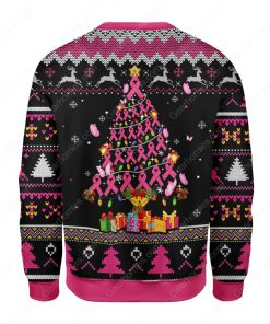 breast cancer awareness all over printed ugly christmas sweater 5