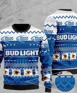bud light beer all over printed christmas ugly sweater 2