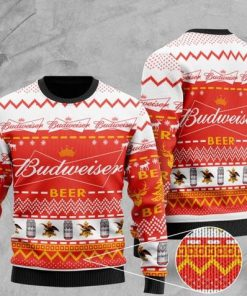 budweiser beer all over printed christmas ugly sweater 2