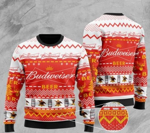 budweiser beer all over printed christmas ugly sweater 2 - Copy (2)
