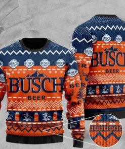 busch light beer all over printed christmas ugly sweater 2