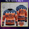 busch light beer pattern full printing christmas ugly sweater