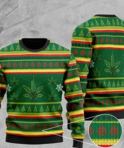 cannabis wool all over printed christmas ugly sweater 2 - Copy