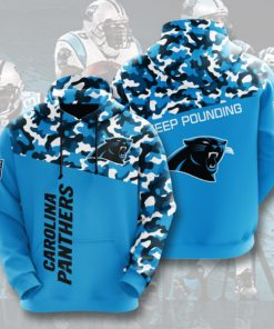 carolina panthers keep pounding camo full printing hoodie 1