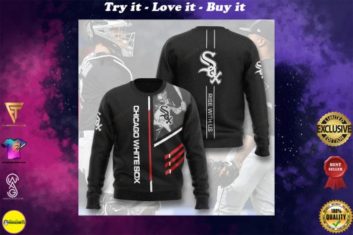 chicago white sox rise with us full printing ugly sweater