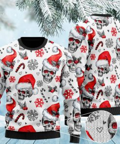 christmas skull pattern full printing ugly sweater 2