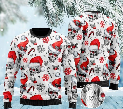 christmas skull pattern full printing ugly sweater 2 - Copy