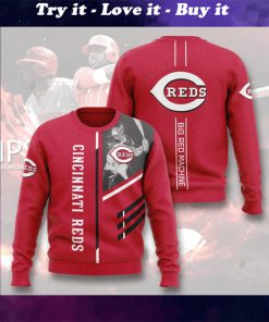 cincinnati reds big red machine full printing ugly sweater