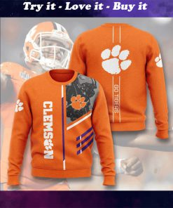 clemson tigers football go tigers full printing ugly sweater