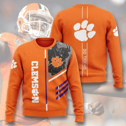 clemson tigers football go tigers full printing ugly sweater 4