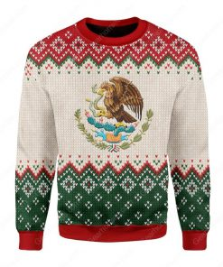 coat of arms of mexico all over printed ugly christmas sweater 2