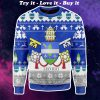 coat of arms of pope leo xiii all over printed ugly christmas sweater