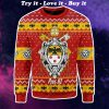 coat of arms of pope pius xi all over printed ugly christmas sweater