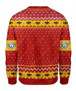 coat of arms of pope pius xi all over printed ugly christmas sweater 4