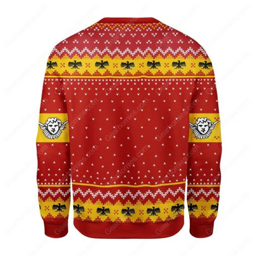 coat of arms of pope pius xi all over printed ugly christmas sweater 5