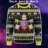 coat of arms of pope sixtus v all over printed ugly christmas sweater