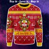 coat of arms of st john xxiii all over printed ugly christmas sweater