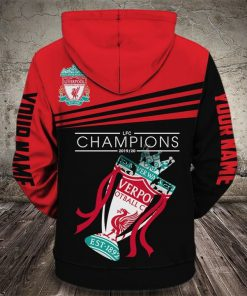 custom name baby groot love liverpool football club champions full printing hoodie 1