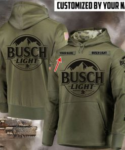 custom name busch light beer full printing hoodie 1