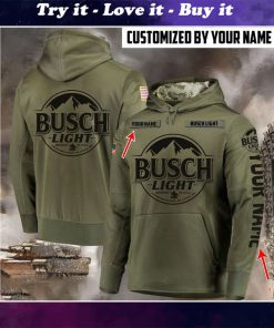 custom name busch light beer full printing shirt