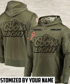 custom name coors light beer full printing hoodie 1