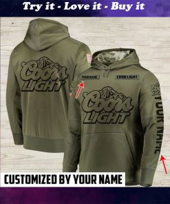custom name coors light beer full printing shirt
