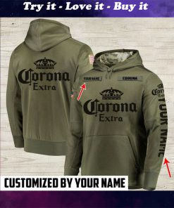 custom name corona extra beer full printing shirt