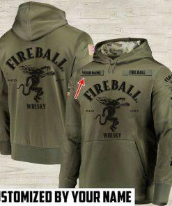 custom name fireball cinnamon whisky full printing hoodie