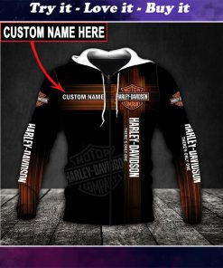 custom name harley-davidson motor company there's only one full printing shirt