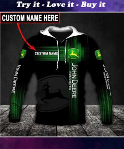 custom name john deere there's only one full printing shirt