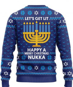 custom name lets get lit happy a merry christmas nukka ugly sweater 2