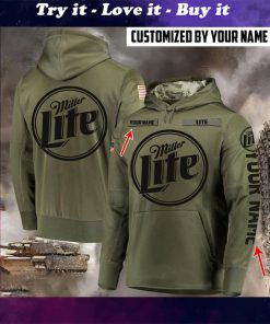 custom name miller lite beer full printing shirt