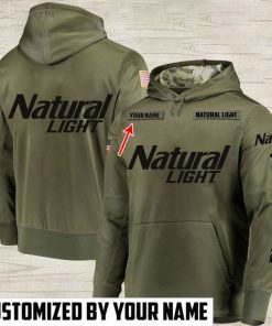 custom name natural light beer full printing hoodie 1