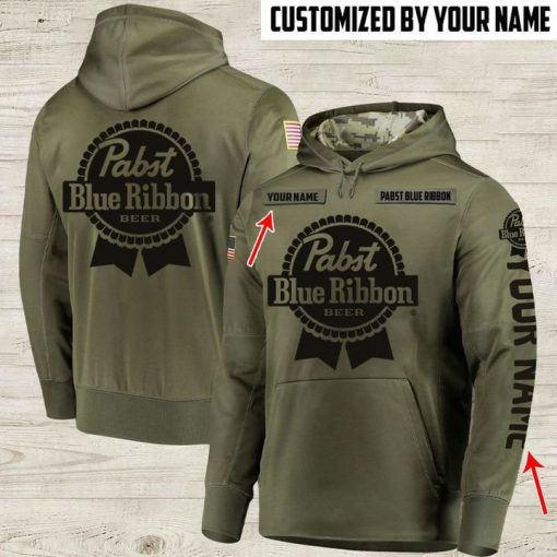custom name pabst blue ribbon beer full printing shirt 2