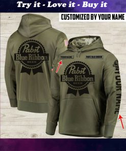 custom name pabst blue ribbon beer full printing shirt