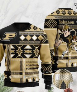 custom name purdue boilermakers football christmas ugly sweater 2 - Copy (3)