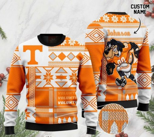 custom name tennessee volunteers football christmas ugly sweater 2 - Copy (2)