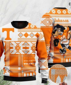 custom name tennessee volunteers football christmas ugly sweater 2 - Copy