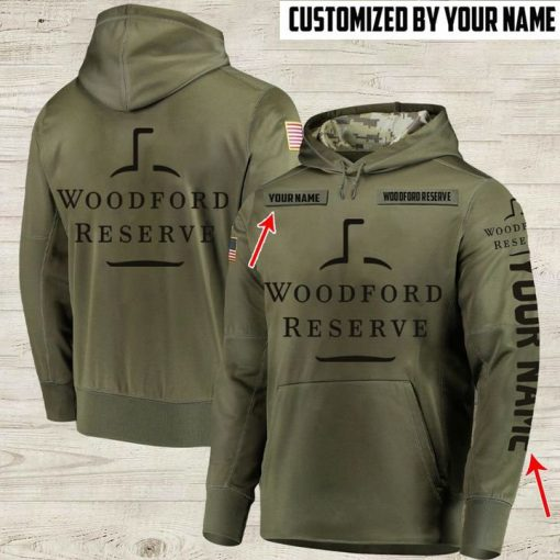 custom name woodford reserve whiskey bourbon full printing hoodie