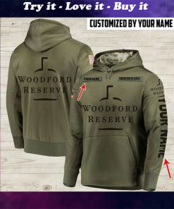 custom name woodford reserve whiskey bourbon full printing shirt