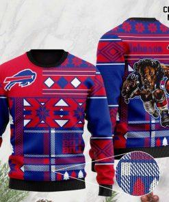 custome name buffalo bills football team christmas ugly sweater 2 - Copy (2)