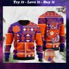 custome name clemson tigers football christmas ugly sweater