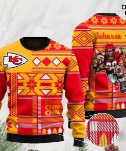 custome name kansas city chiefs football team christmas ugly sweater 2 - Copy (2)