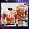 custome name texas longhorns football christmas ugly sweater