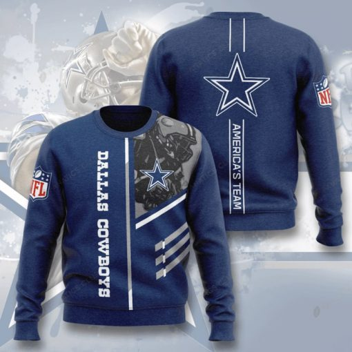 dallas cowboys america's team full printing ugly sweater 2