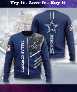 dallas cowboys america's team full printing ugly sweater