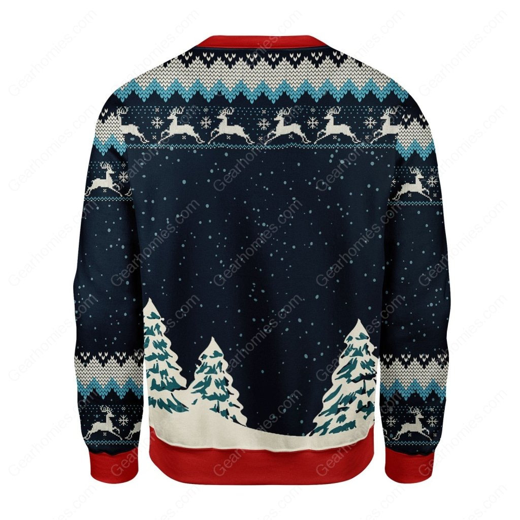 deer hunting merry christmas all over printed ugly christmas sweater 4