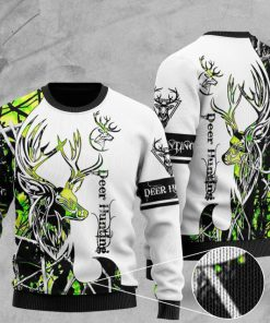 deer hunting pattern full printing christmas ugly sweater 2 - Copy