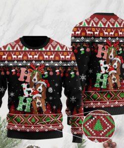 dog lover basset hound ho ho ho christmas ugly sweater 2 - Copy